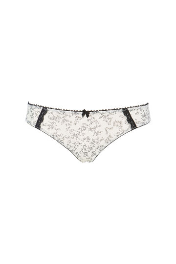 Lace briefs with floral pattern
