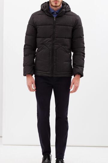 Rumford heavy jacket with hood, Grey, hi-res