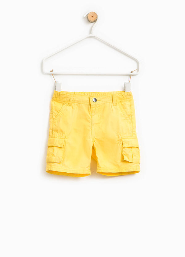 100% cotton cargo Bermuda shorts | OVS