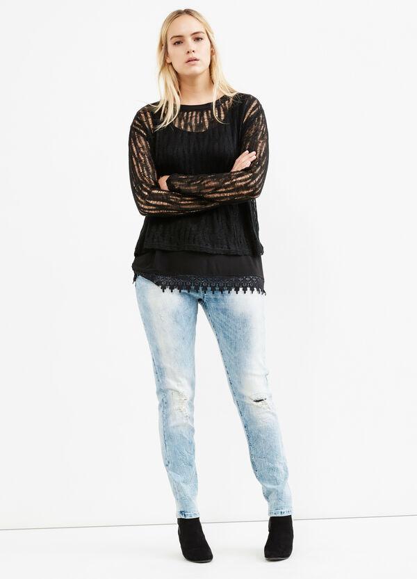 Pullover stretch con top interno Curvy | OVS