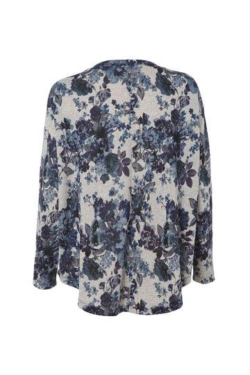Smart Basic floral cardigan, Grey, hi-res