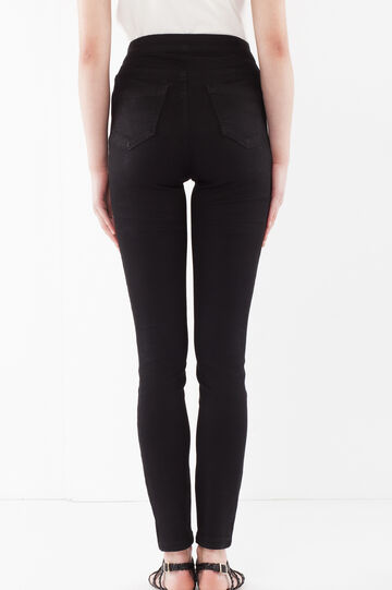 Distressed pants, Black, hi-res