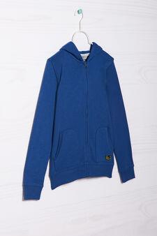 Plain hoodie, Sky Blue, hi-res