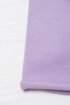 Solid colour cotton beanie cap, Lilac, hi-res