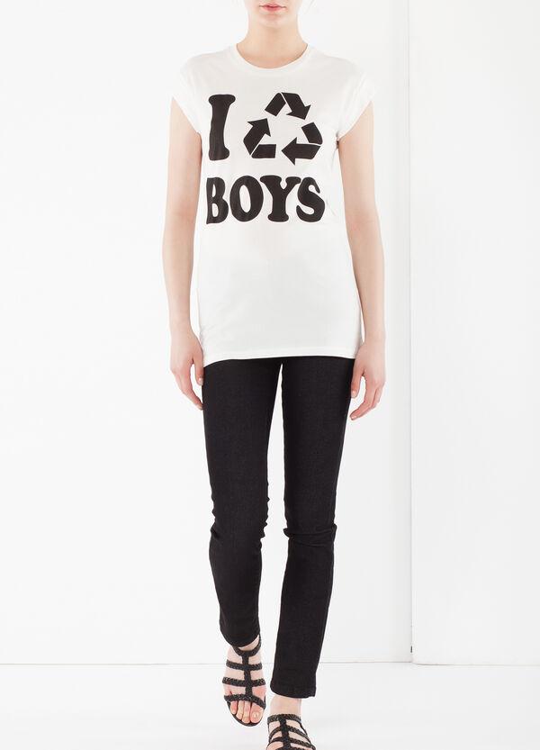 T-shirt maniche con risvolto | OVS