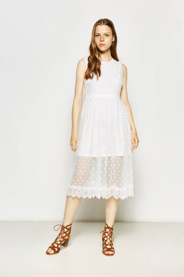 Tulle and lace longuette dress