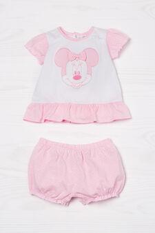T-shirt and shorts set, White/Pink, hi-res