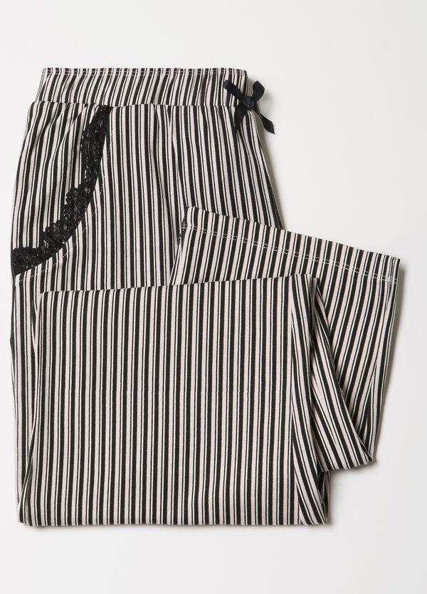 Striped stretch pyjama trousers | OVS