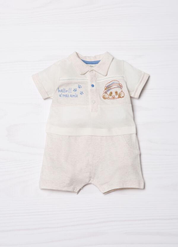 Embroidered onesie in 100% cotton | OVS