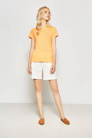 100% cotton V-neck polo shirt