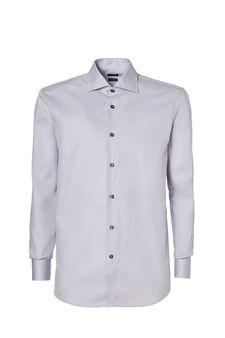 Regular-fit shirt with cut-away collar, Light Grey, hi-res