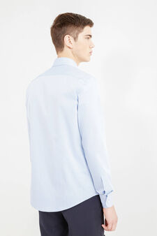 Slim-fit, formal shirt with spread collar, Soft Blue, hi-res