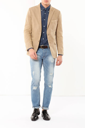 Jacket with lapels, Beige, hi-res