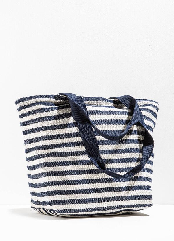 Bolsa de playa de rayas con cremallera | OVS
