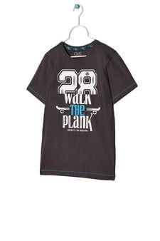 T-shirt con stampa, Grigio antracite, hi-res