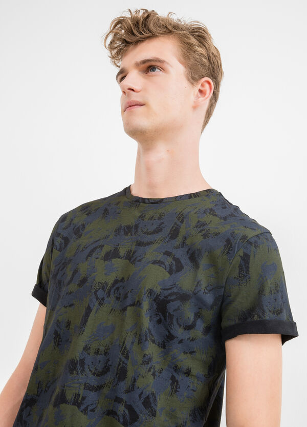 100% cotton T-shirt with all-over print | OVS