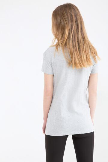 T-shirt puro cotone Mickey Mouse, Grigio melange, hi-res