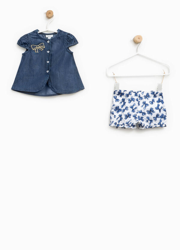 Patterned outfit with bows and embroidery | OVS