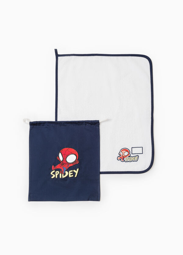 Set asilo cotone con patch Spiderman | OVS