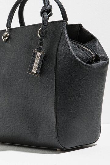 Handbag with saffiano effect