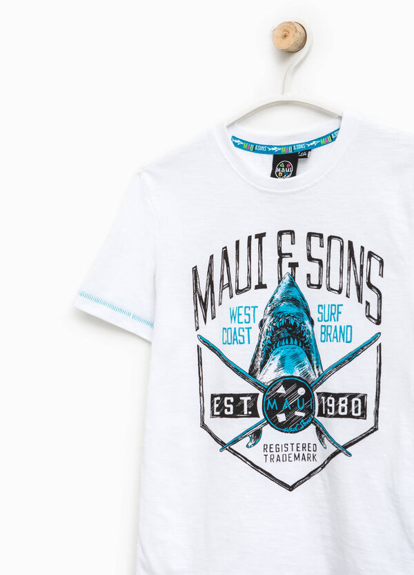Printed T-shirt by Maui and Sons | OVS