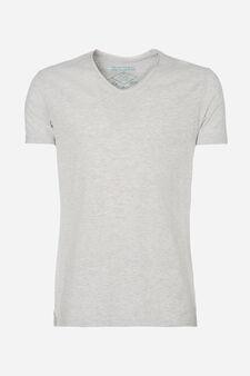 Solid colour pyjama top, Grey Marl, hi-res
