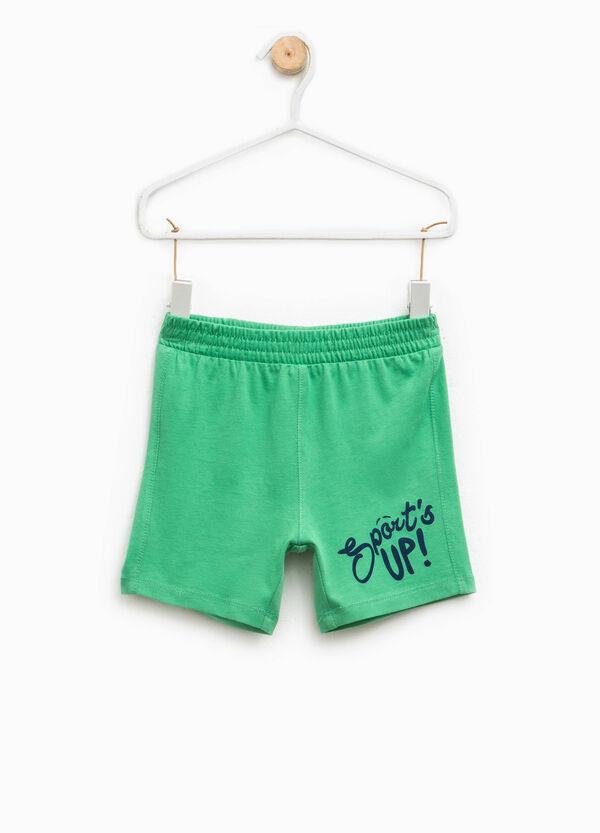 Pantaloncini con stampa lettering   OVS