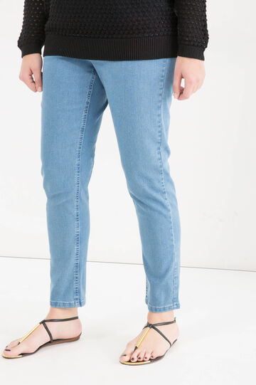 Curvy stretch jeans, Soft Blue, hi-res