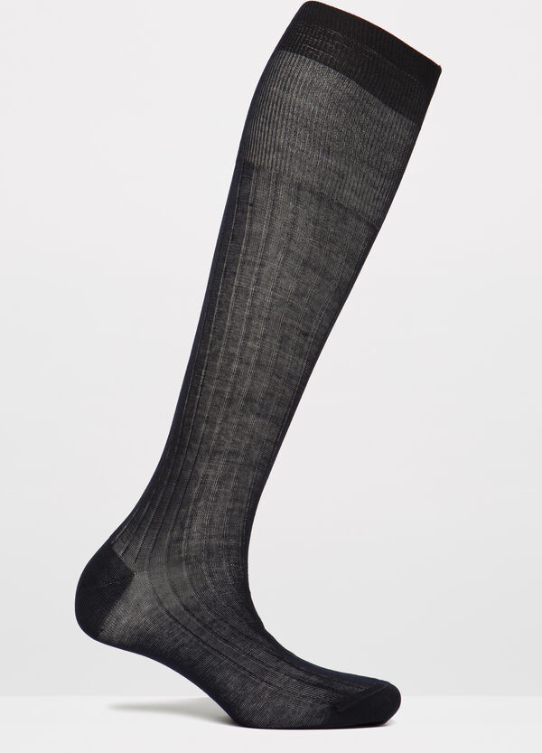 Solid colour long socks in 100% cotton | OVS
