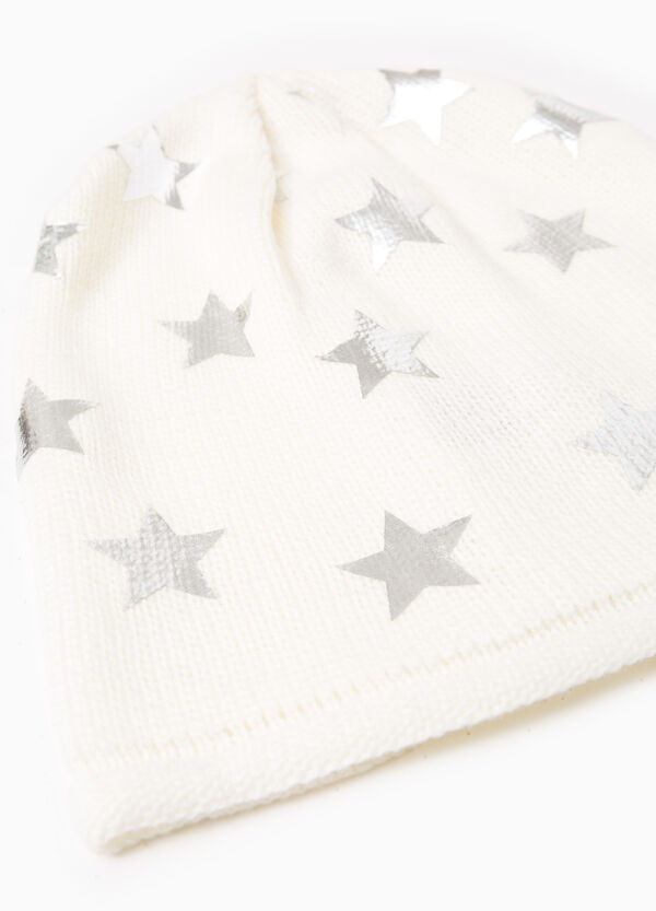 Knitted beanie cap with stars | OVS