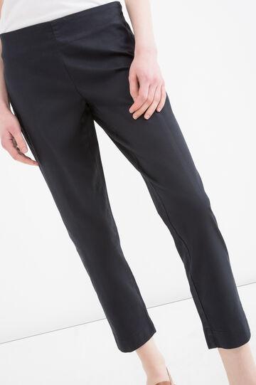 Stretch Capri trousers, Black, hi-res