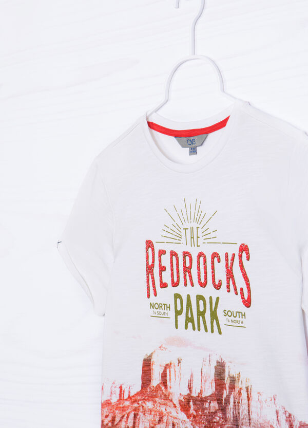 T-shirt puro cotone stampa | OVS