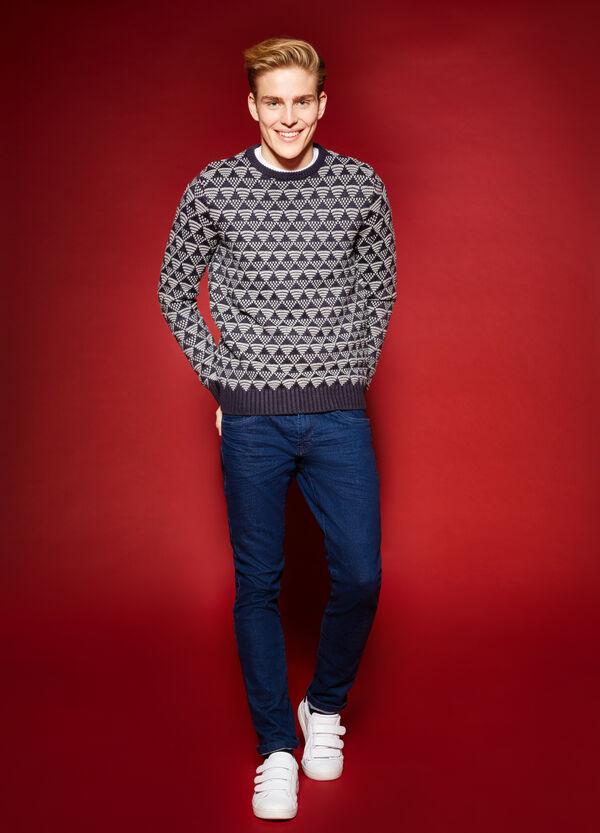 Patterned round neck knit pullover | OVS