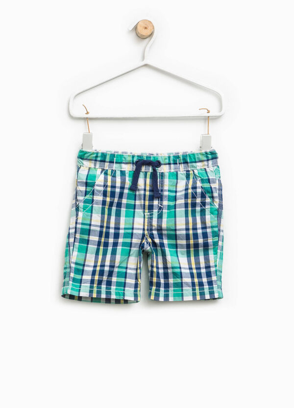Cotton Bermuda shorts with tartan | OVS