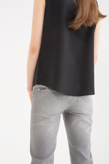 Slim-fit stretch jeans, Grey, hi-res