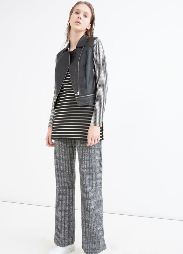 Pantaloni stretch in misto viscosa | OVS