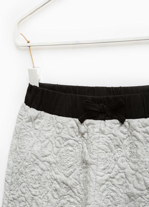 Pantaloni cotone trama floreale | OVS