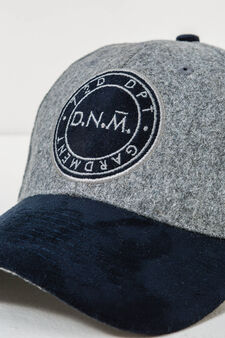 Baseball cap with patches, Blue/Grey, hi-res