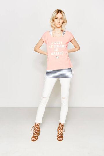Faux layered cotton T-shirt