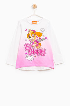 Paw Patrol T-shirt with sequins, White, hi-res