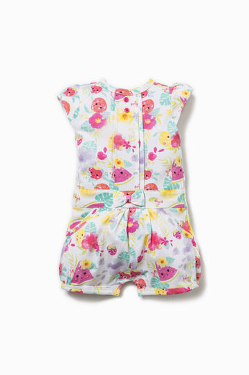 Patterned playsuit in cotton
