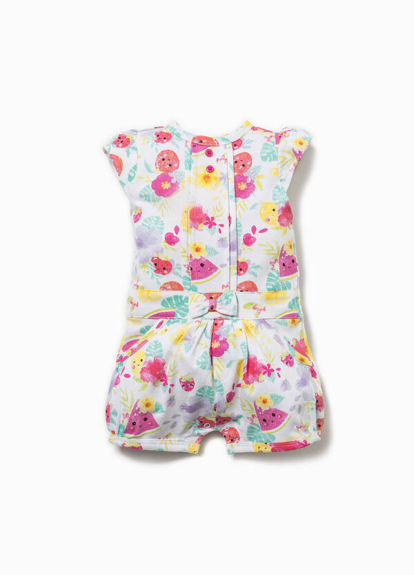 Patterned playsuit in cotton | OVS