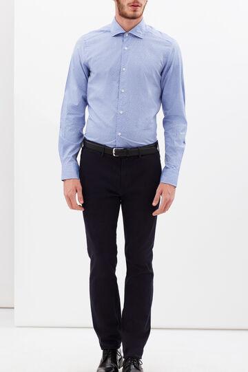 Camicia Rumford slim fit floreale, Azzurro, hi-res