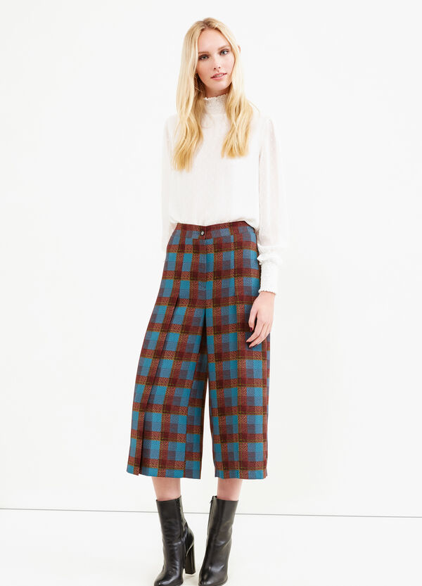 Pantaloni modello gaucho tartan | OVS