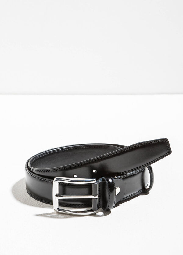 Cintura liscia in vera pelle | OVS