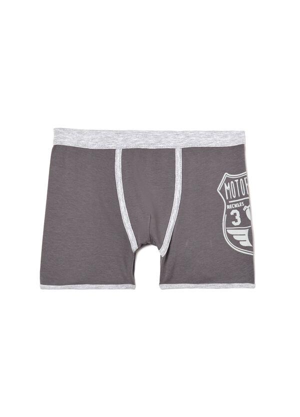 Printed stretch jersey boxer shorts. | OVS