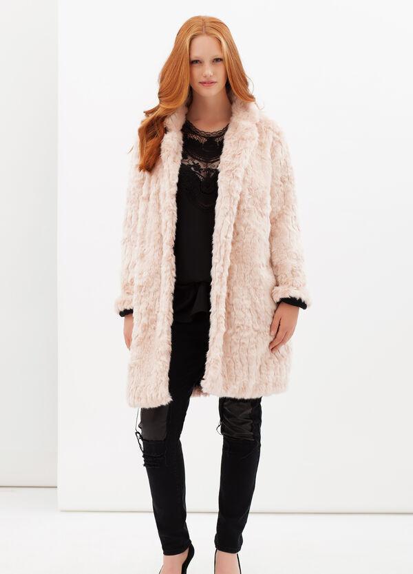 Curvyglam long leather look jacket | OVS