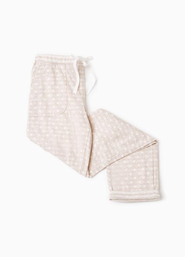 Polka dot pyjama trousers in cotton | OVS