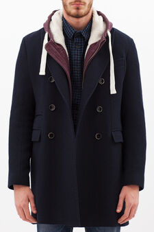 Rumford double-breasted coat, Blue, hi-res