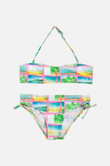 Stretch bikini with all-over print